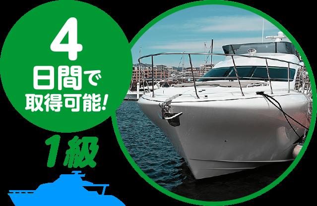 4日間で取得可能! 1級小型船舶操縦士免許コース