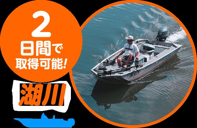 2日間で取得可能! 湖川小出力限定操縦士免許コース